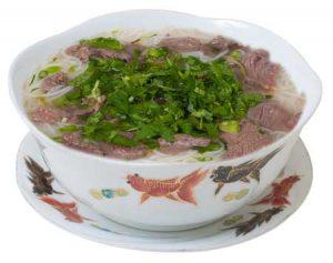 B42. 'Pho Bo' Rýžové nudlová polévka s hovězím masem