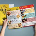 barevný jídelní lístek pro restaurace
