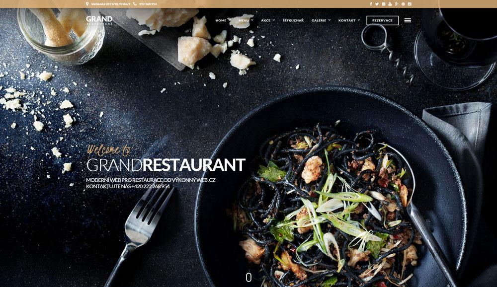 Kvalitní web pro restaurace, hospody a hotely